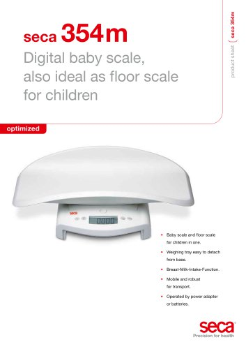 seca 354m Digital baby scale, also ideal as floor scale for children