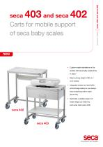 seca 403 and seca 402 Carts for mobile support of seca baby scales - 1