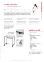 seca 403 and seca 402 Carts for mobile support of seca baby scales - 2
