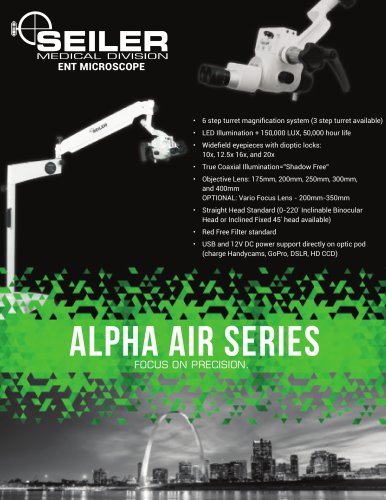 Alpha Air ENT Spec Sheet