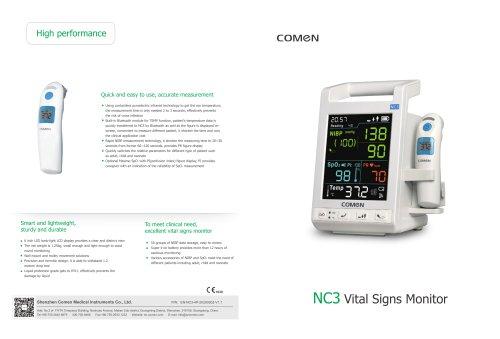 Blood pressure vital signs monitor NC3