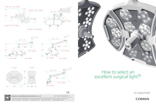 Ceiling-mounted surgical light L6