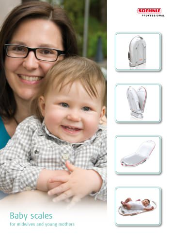 Baby scales for midwives and young mothers