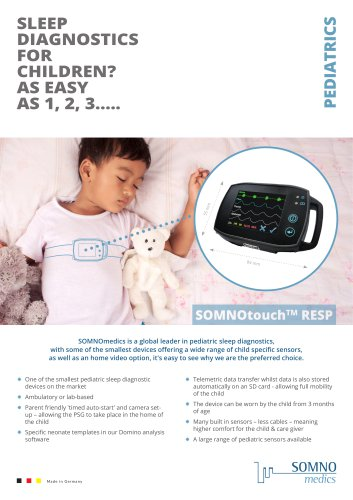 SOMNOtouch™ RESP for pediatrics