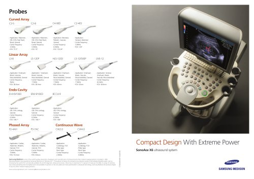 Compact Design With Extreme Power SonoAce X6 ultrasound system