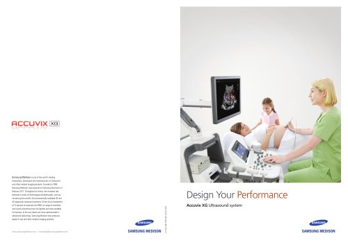 Design Your Performance Accuvix XG Ultrasound system