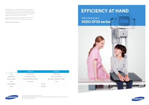 Efficiency at hand, XGEO GF50 series