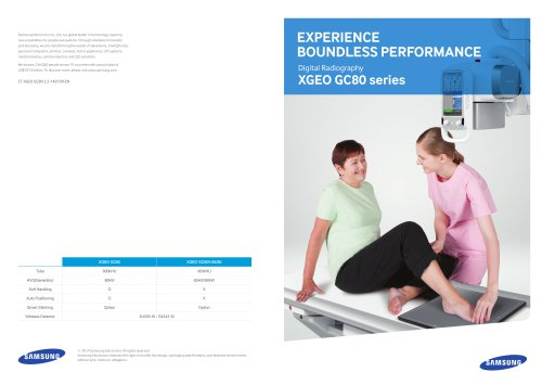 Experience boundless performance, XGEO GC80 series