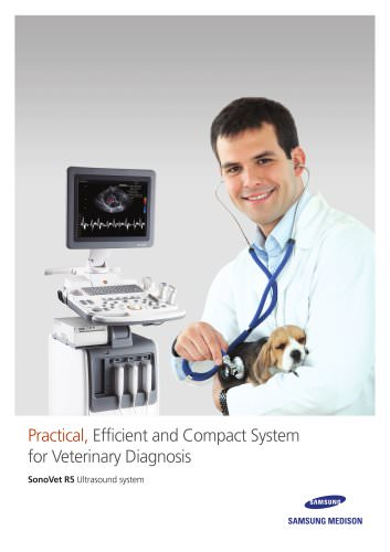 Practical, Efficient and Compact System for Veterinary Diagnosis SonoVet R5 Ultrasound system
