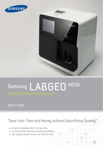 Samsung LAB6E0 Delivering Smart Solutions for Life HC10 IVD-C10A