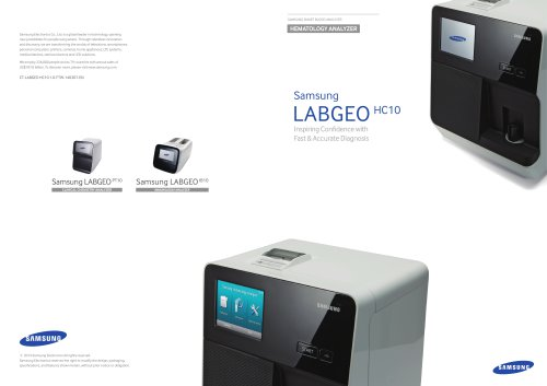 Samsung LABGEO HC10 Inspiring Confidence with Fast & Accurate Diagnosis