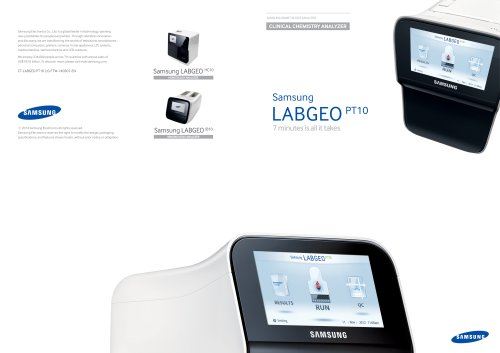 Samsung LABGEO PT10 7 minutes is all it takes