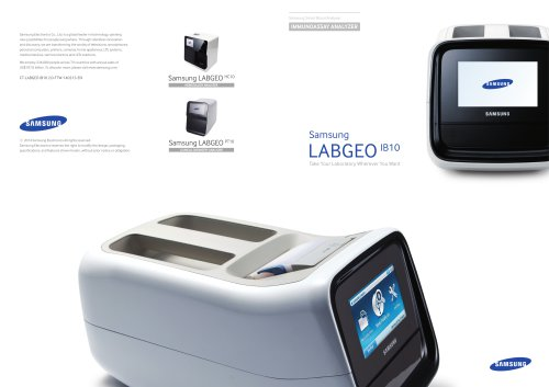 Samsung LABGEO1610 Take Your Laboratory Wherever You Want