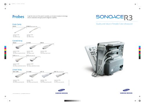 SONOACER3 Quality and Value in Portable Color Ultrasound