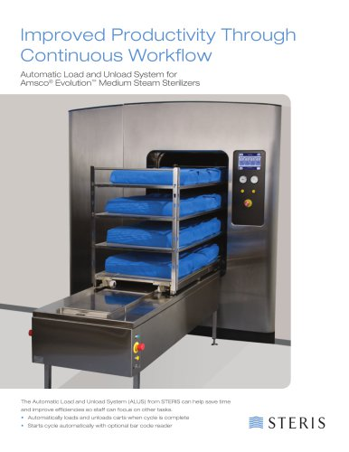 AUTOMATED LOAD AND UNLOAD SYSTEM FOR AMSCO EVOLUTION MEDIUM STEAM STERILIZERS (ALUS)