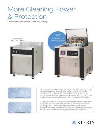 Caviwave® Ultrasonic Cleaning Family - STERIS - PDF Catalogs