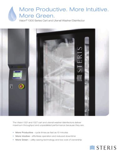 Vision® 1300 Series Cart and Utensil Washer/Disinfector