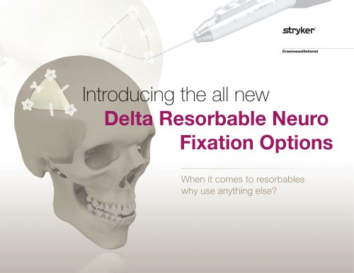 Delta Resorbable Neuro Fixation Options