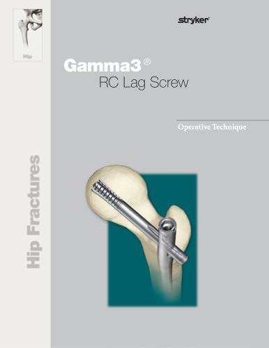 Gamma3 U-Blade Lag Screw