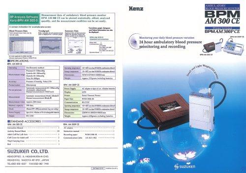 Ambulatory Blood Pressure Monitor BPM AM 300 CE - EN