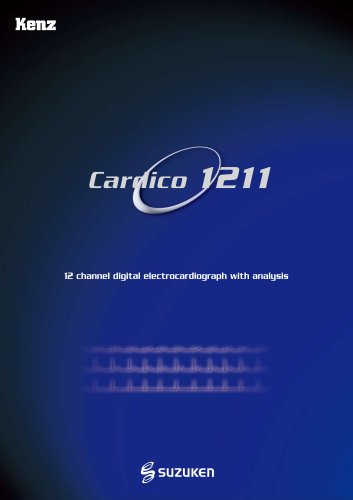 Electrocardiograph Cardico 1211 - EN