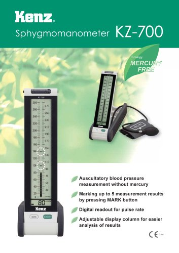Mercury-free sphygmomanometer KZ-700 - EN