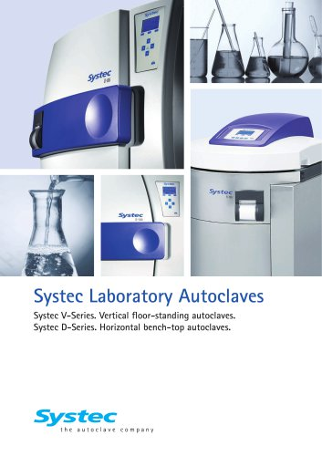 Systec Laboratory Autoclaves V/D Series