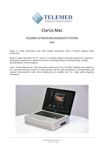 ClarUs Mac  TELEMED ULTRASOUND DIAGNOSTIC SYSTEM INFO