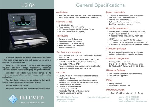 LS 64 General Specifications