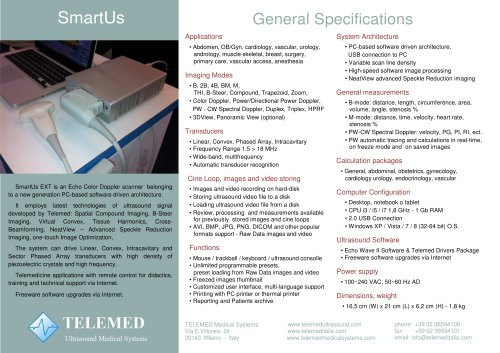 SmartUs General Specifications