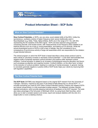 Product Information Sheet – SCP Suite