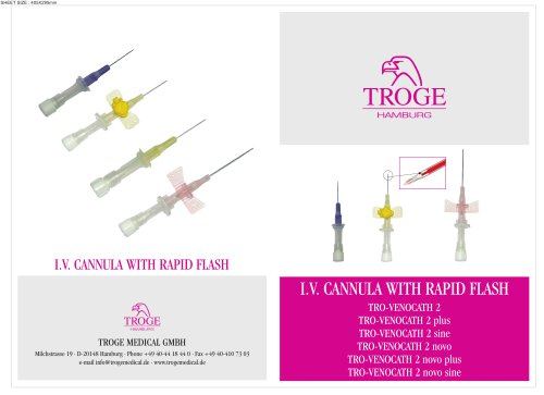 I.V. CANNULA WITH RAPID FLASH