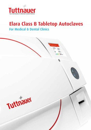 Elara Class B Tabletop Autoclaves