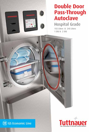 GS Double Door Pass-Through Autoclave