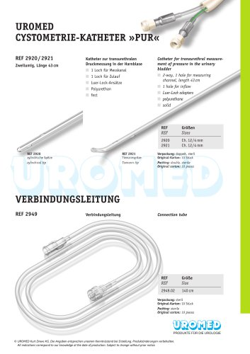 UROMED Cystometry Catheter »PUR«