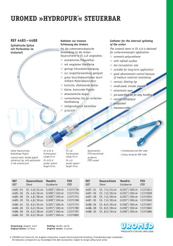 UROMED »HYDROPUR®« manoeuvrable with perforation, cylindrical tip