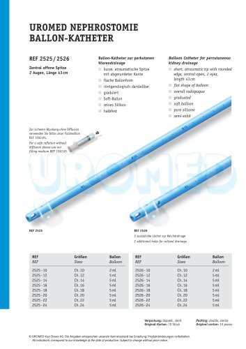 UROMED Nephrostomy Balloon Catheter