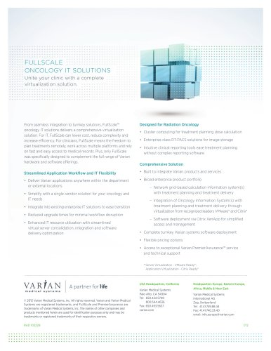 FullScale oncology IT SoluTIonS