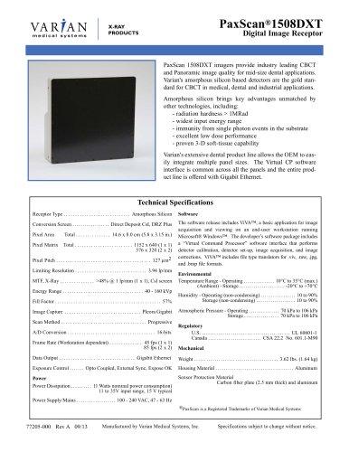 PaxScan ® 1508DXT