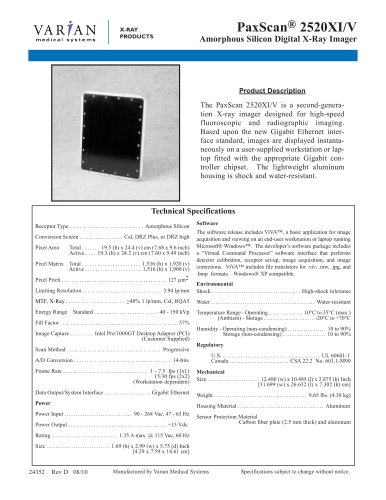PaxScan® 2520XI/V