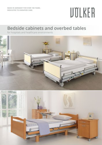Bedside cabinets and overbed tables