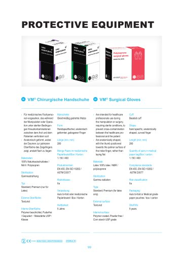 Surgical gloves - ORTHOPAEDIC