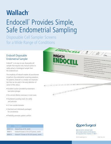 Endocell Sell Sheet