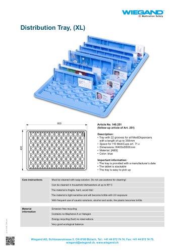 Distribution Tray, (XL)