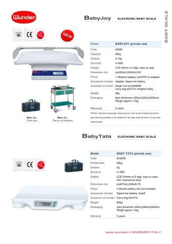 Digital baby portable scales