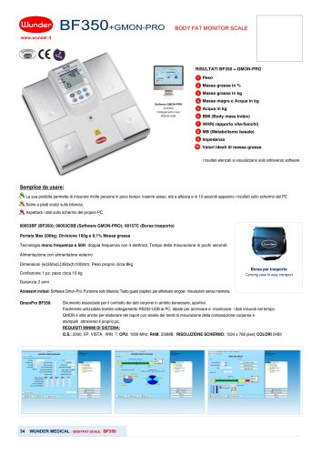 Digital scales with body composition analyzer