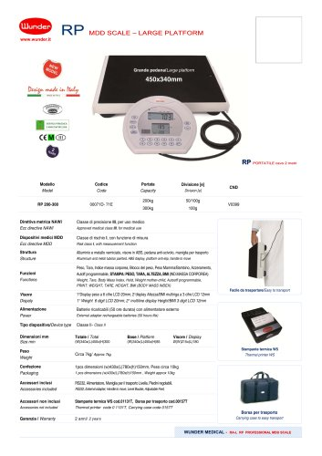 Professional digital portable scales with BMI