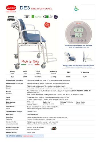 Professional electronic chair scales with BMI calculation