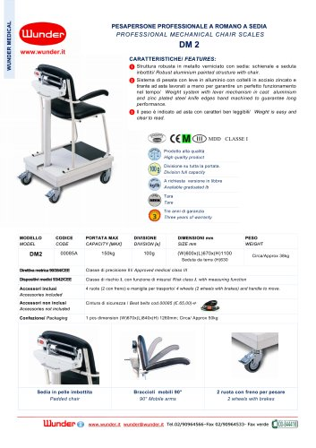 Professional mechanical chair scales
