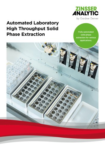 Automated Laboratory High Throughput Solid Phase Extraction Fully automated  solid